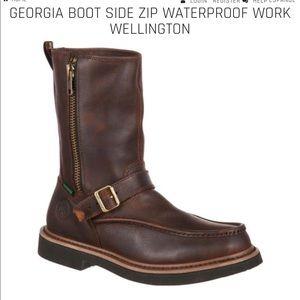 50da441784a Georgia Boot side zip waterproof Work Wellington NWT